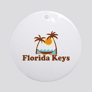 Florida Keys - Palm Trees Design. Ornament (Round)